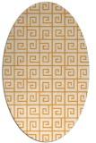 rug #335205 | oval light-orange graphic rug