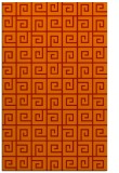 rug #335453 |  orange graphic rug