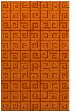 rug #335465    red-orange graphic rug