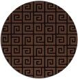 rug #335577 | round brown rug