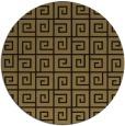 rug #335581 | round mid-brown rug