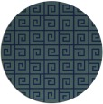 rug #335593 | round blue-green graphic rug