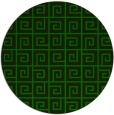 rug #335629 | round green graphic rug