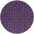 rug #335657 | round blue-violet rug