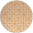 rug #335753 | round orange graphic rug