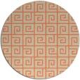 rug #335757 | round orange rug
