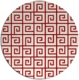rug #335801 | round red graphic rug