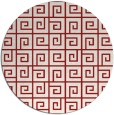 rug #335809 | round red rug