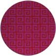 rug #335813 | round red popular rug