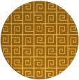 rug #335865   round light-orange graphic rug