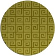 rug #335881 | round light-green rug