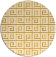 rug #335897 | round light-orange graphic rug