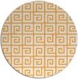 rug #335909   round light-orange graphic rug