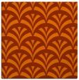rug #336521 | square red-orange graphic rug