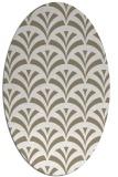 rug #336617 | oval beige graphic rug