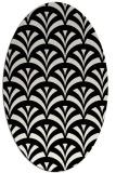 rug #336621 | oval black retro rug
