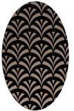 rug #336629 | oval black graphic rug