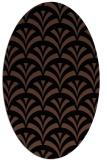 rug #336633 | oval black graphic rug