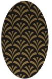 rug #336637 | oval brown retro rug