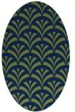 rug #336653 | oval blue retro rug
