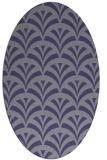 rug #336705   oval blue-violet graphic rug