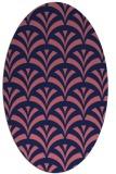 rug #336709   oval pink retro rug