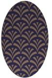 rug #336725 | oval blue-violet graphic rug
