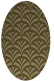 rug #336737 | oval brown graphic rug