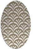 rug #336757 | oval white popular rug