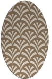 rug #336769 | oval beige graphic rug