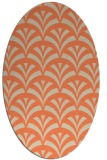 rug #336813 | oval orange graphic rug