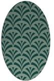 rug #336823 | oval retro rug