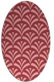 rug #336833 | oval pink popular rug