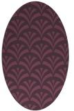 rug #336841 | oval purple rug