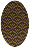 rug #336845 | oval purple graphic rug