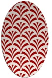 rug #336858 | oval graphic rug