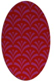 rug #336869 | oval red graphic rug
