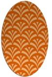 rug #336877 | oval red-orange graphic rug