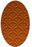 rug #336881 | oval red-orange graphic rug