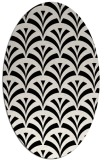 rug #336889 | oval white retro rug