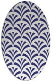 rug #336897 | oval blue retro rug