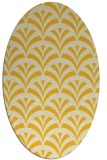 rug #336905 | oval yellow graphic rug