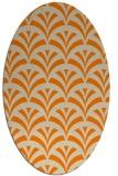 rug #336933 | oval orange retro rug