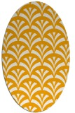 rug #336953 | oval light-orange rug