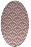 rug #336957   oval pink graphic rug