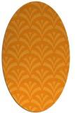 rug #336961   oval light-orange retro rug