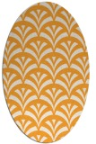 rug #336965 | oval light-orange retro rug