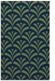 rug #337005 |  green retro rug