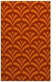 rug #337225 |  red-orange graphic rug