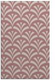 rug #337309 |  pink retro rug